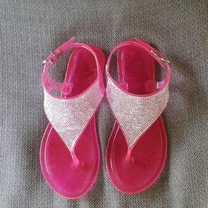 Big girls 3/4 pink jelly sandals